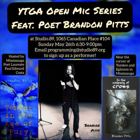 Studio 89, Poetry Mississauga, Brandon Pitts, Mosaic Press